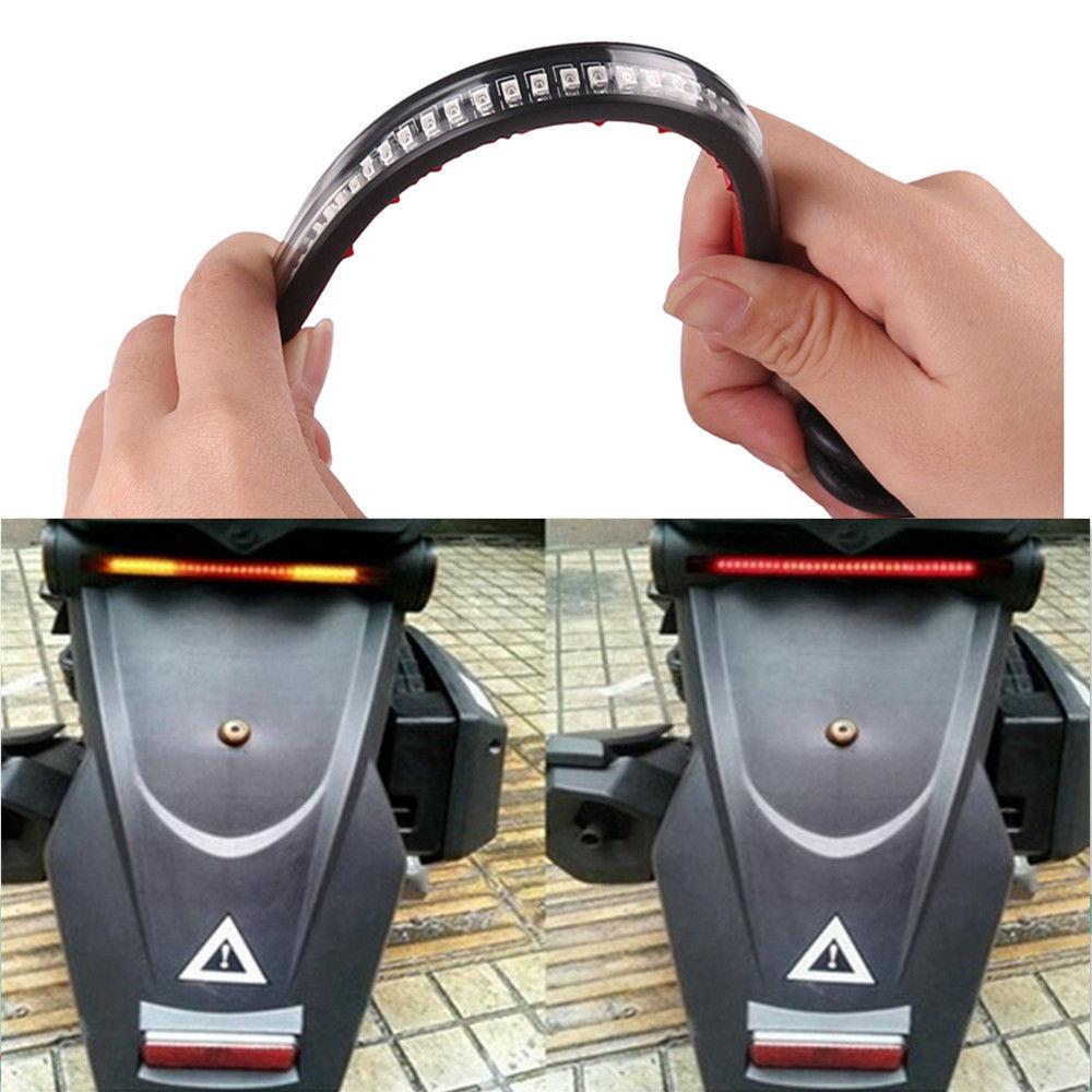 Lampu Led Strip Indikator Rem Dan Sein Sepeda Motor Black Senter Kecil 9 Sj0020 3