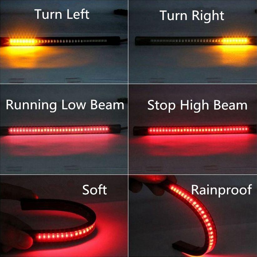 Lampu Led Strip Indikator Rem Dan Sein Sepeda Motor Black