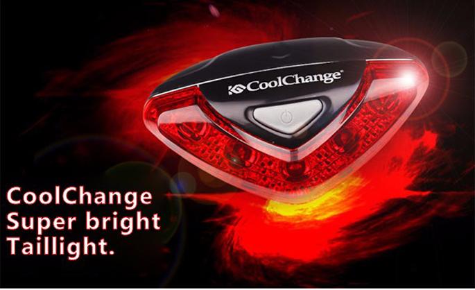 CoolChange Lampu Belakang Sepeda Super Bright