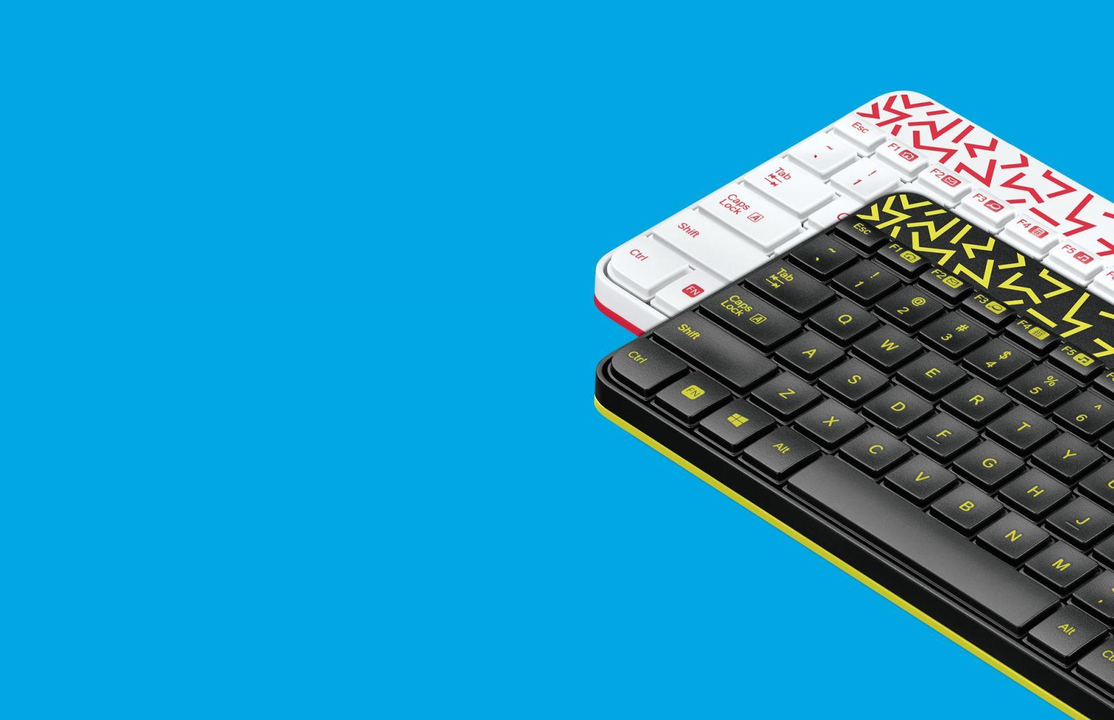 Logitech Keyboard And Mouse Wireless Combo Mk240 Nano Black Meja Kerja Anda Akan Tampak Menonjol Dengan Aksen Warna Yang Cerah Desain Unik Dan Pola Kontras Segar