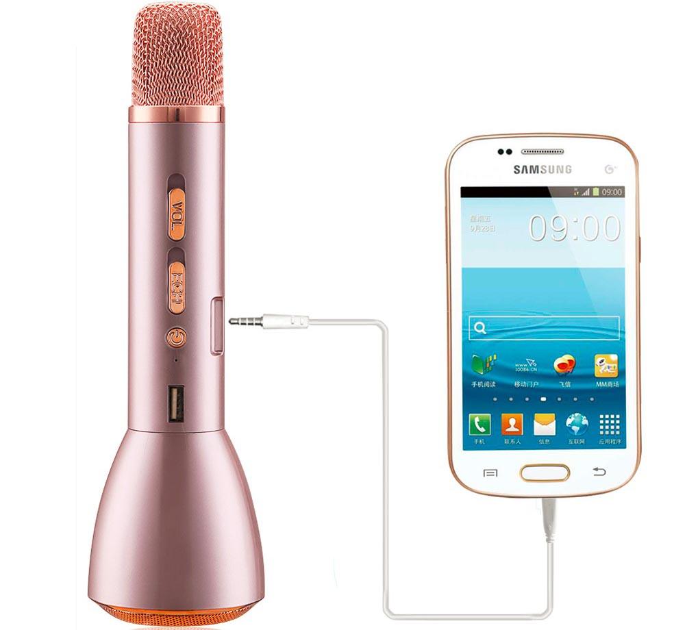 Magic Karaoke Mikrofon Dan Speaker Bluetooth Ktv K088 Golden Komputer Bisa Buat Laptop Selain Menggunakan Koneksi Anda Juga Dapat Menghubungkan Dengan Kabel 35mm Aux To Usb Untuk Terhubung Smartphone