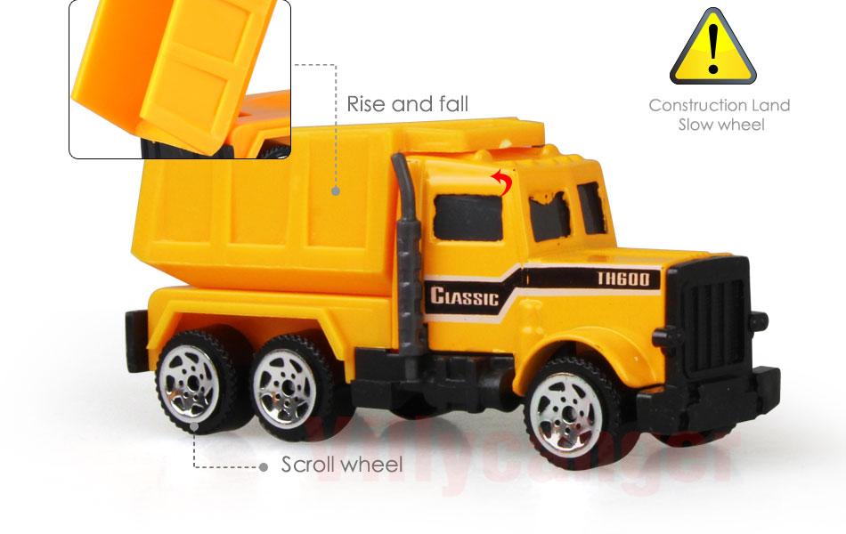 Mainan Mobil Mobilan Truck Konstruksi Diecast Anak 6pcs Cp1073