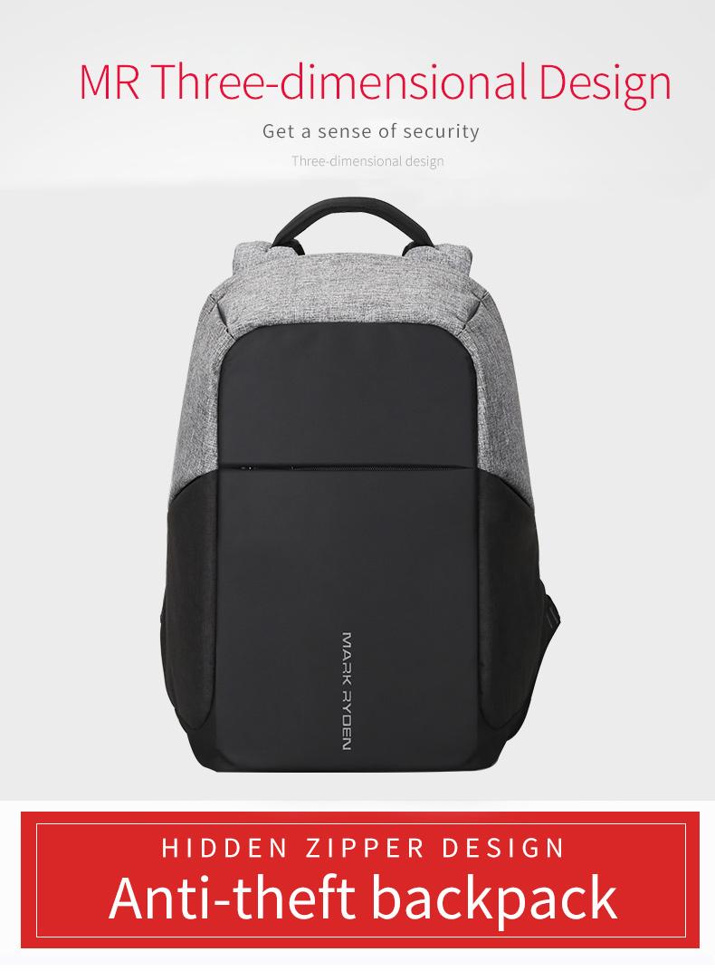 Mark Ryden Tas Ransel Anti Maling Dengan Usb Charger Port Mr5815zs Theft Travel Waist Bag Overview Of