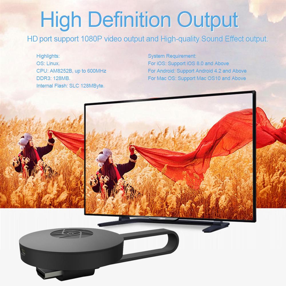 Mirascreen Wifi Display Dongle ini mendukung Miracast, airplay dan DLNA. Dengan fitur ini Anda dapat mentransfer layar Android / iOS Anda ke TV dengan ...