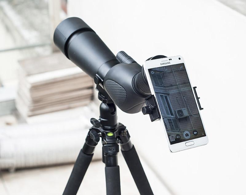 Mount universal smartphone ke teropong monokular black