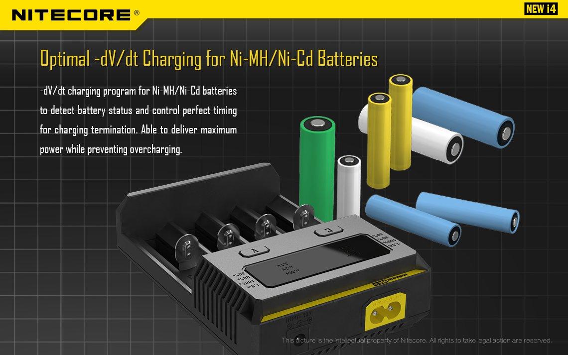 Nitecore Intellicharger Universal Battery Charger 4 Slot For Li Ion Peak Power 9v 200mah Rechargeable Cas Kotak Product Showcase