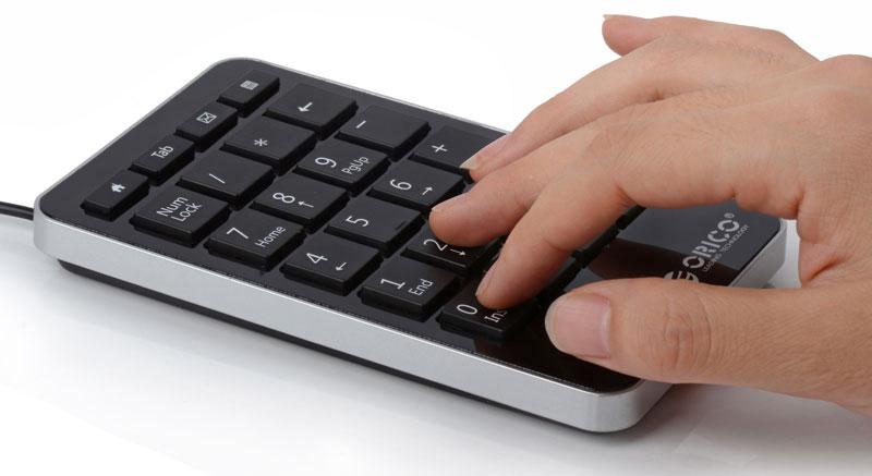 Atau sering mengejarkan suatu hal yang berhubungan dengan angka -angka melalui laptop? Nah, ORICO USB Numeric Keyboard - OBK 311 akan memudahkan pekerjaaan ...