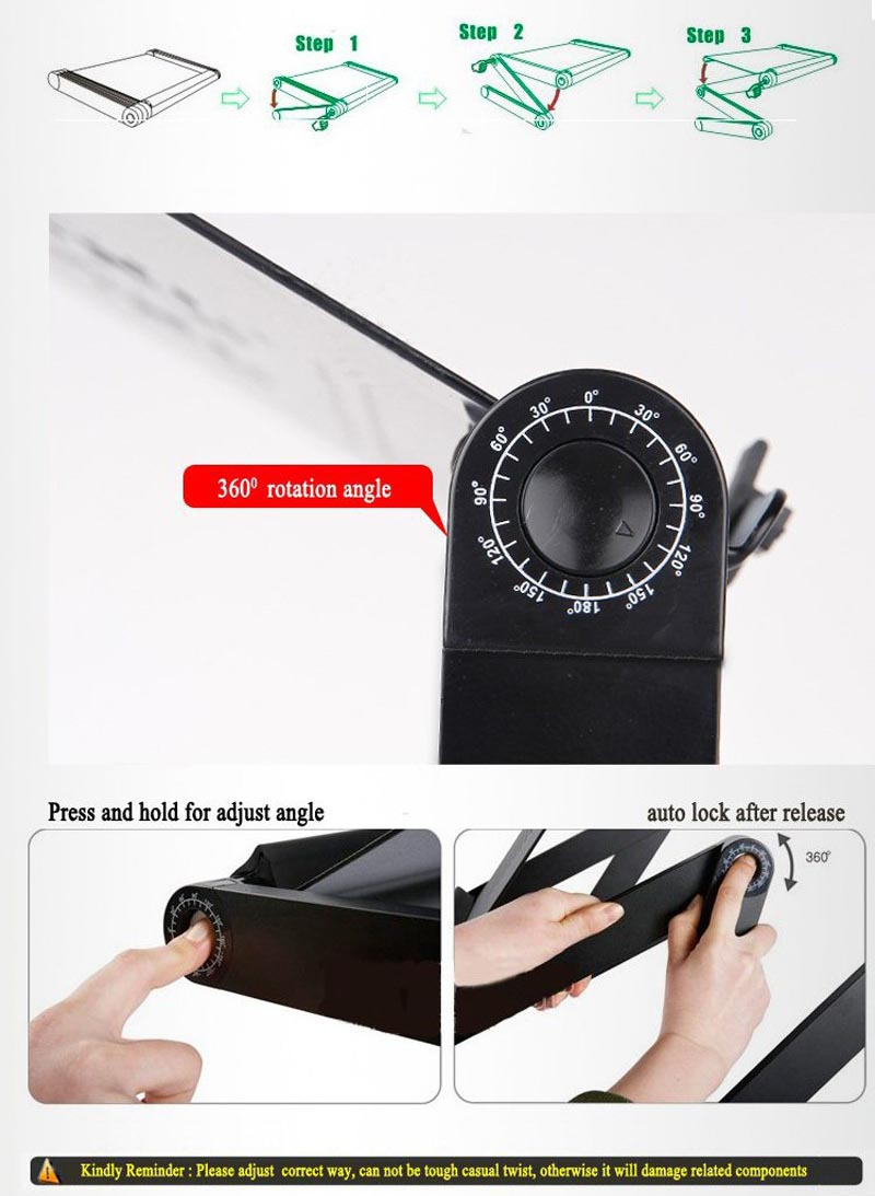 Meja Laptop Portable Table With Mouse Desk Length 42 X 26 Cm Black Ini Memiliki Kunci Yang Pas Sehingga Dapat Berdiri Dengan Kokoh
