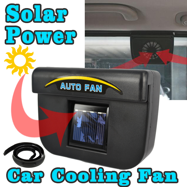 auto cool solar powered car air ventilation system hitam lazada indonesia. Black Bedroom Furniture Sets. Home Design Ideas