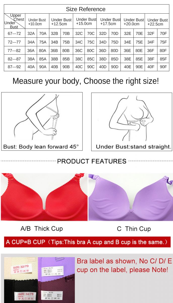 What Is A Standard Bra And Cup Size In India