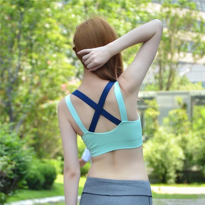 Push up sport bra wanita tali silang size l black