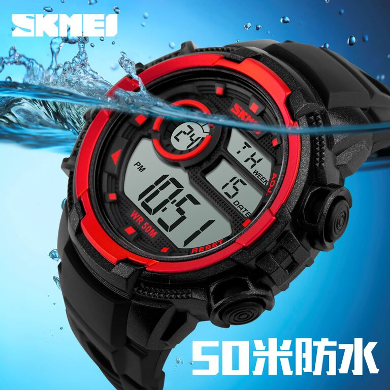 ... SKMEI Jam Tangan Sporty Digital Pria - DG1113 - Black White - 8 ...