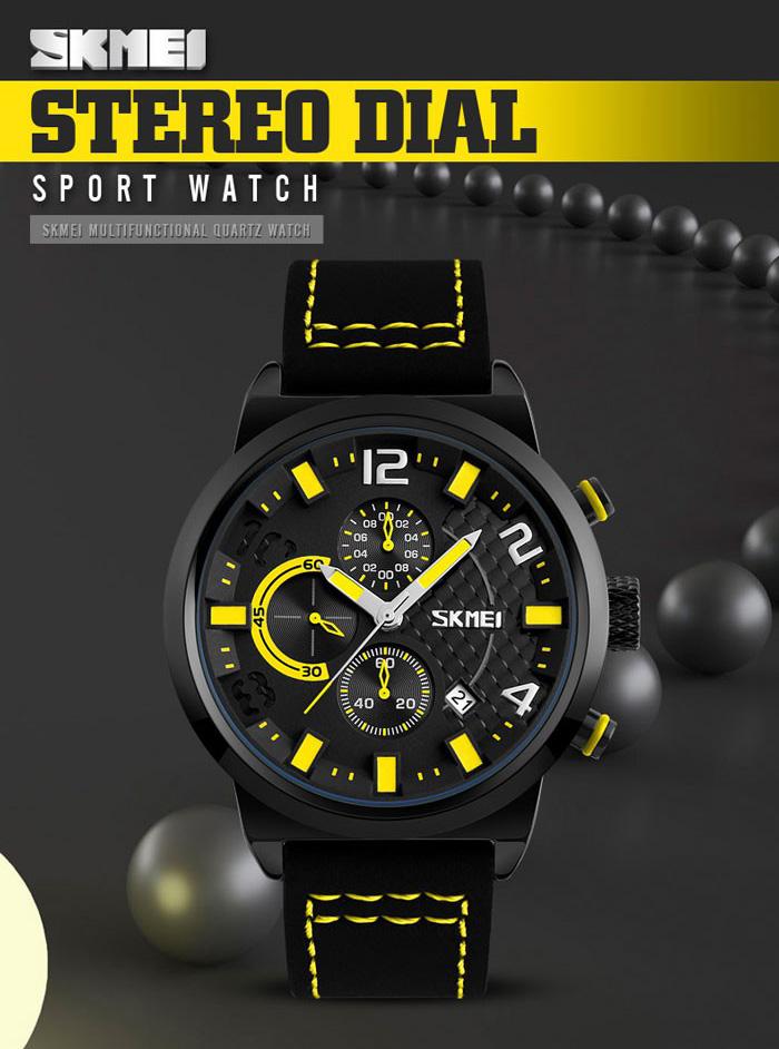 Jam tangan SKMEI 9149CL hadir dengan interface penunjuk waktu analog yang unik dan stylish. Bagian tali terbuat dari bahan material Leather dengan warna ...