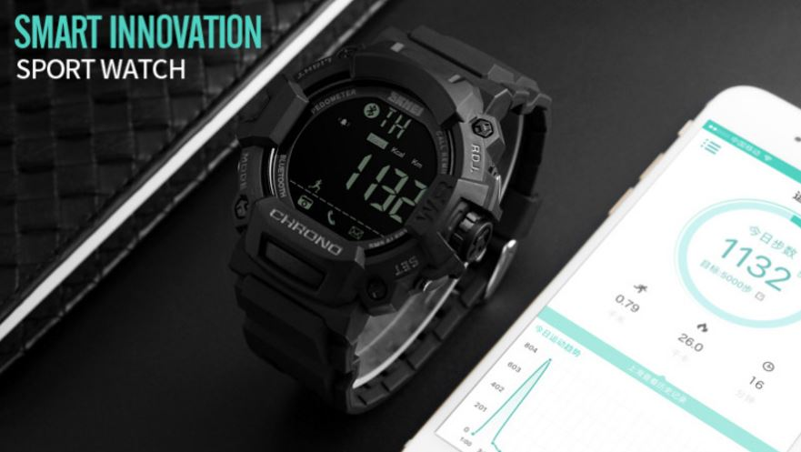 ... Skmei Jam Tangan Olahraga Smartwatch Bluetooth 1249 Black elevenia Source LCD Display Timer Remote Cord