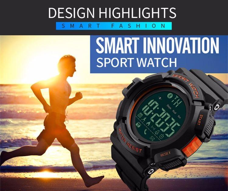 Design sporty dan tangguh membuat jam tangan ini cocok digunakan sebagai jam tangan sehari-hari menemani setiap aktifitas Anda.