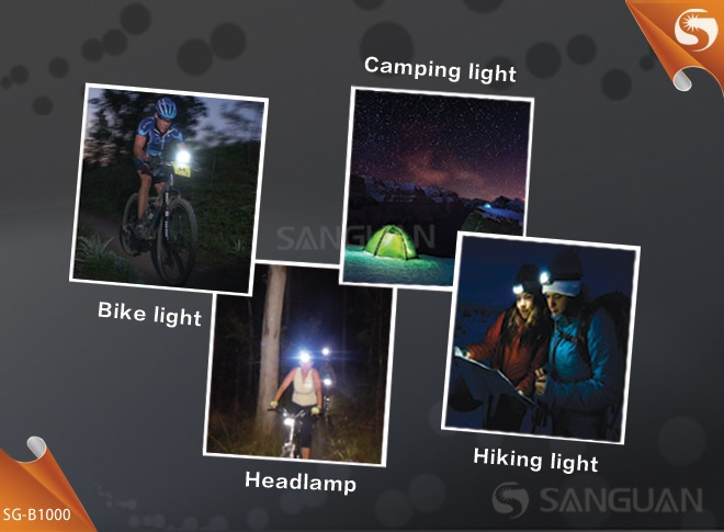 Sanguan SG-B1000 Senter LED Bicycle Light / Headlamp CREE ...