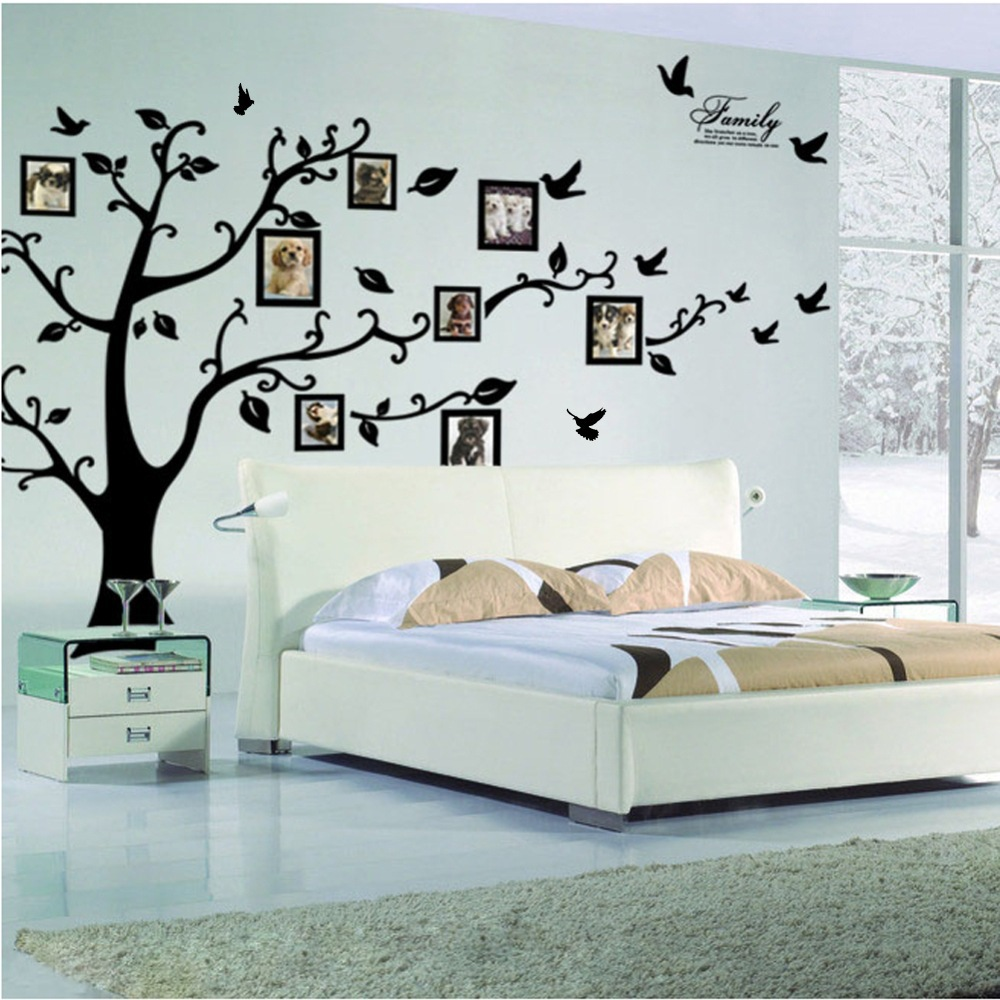 Sticker wallpaper dinding photo tree black 1