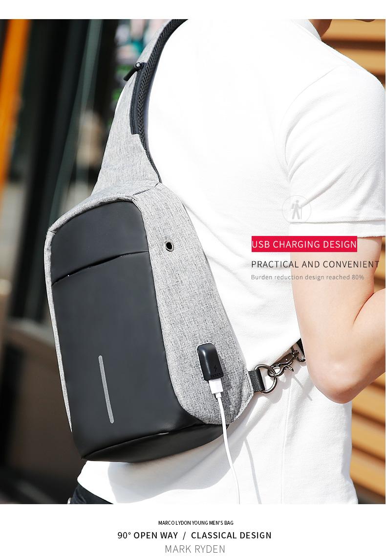 Mark Ryden Tas Selempang Anti Maling Dengan Usb Charger Port Thief Water Proof Smart Crossbody Bag Product Showcase