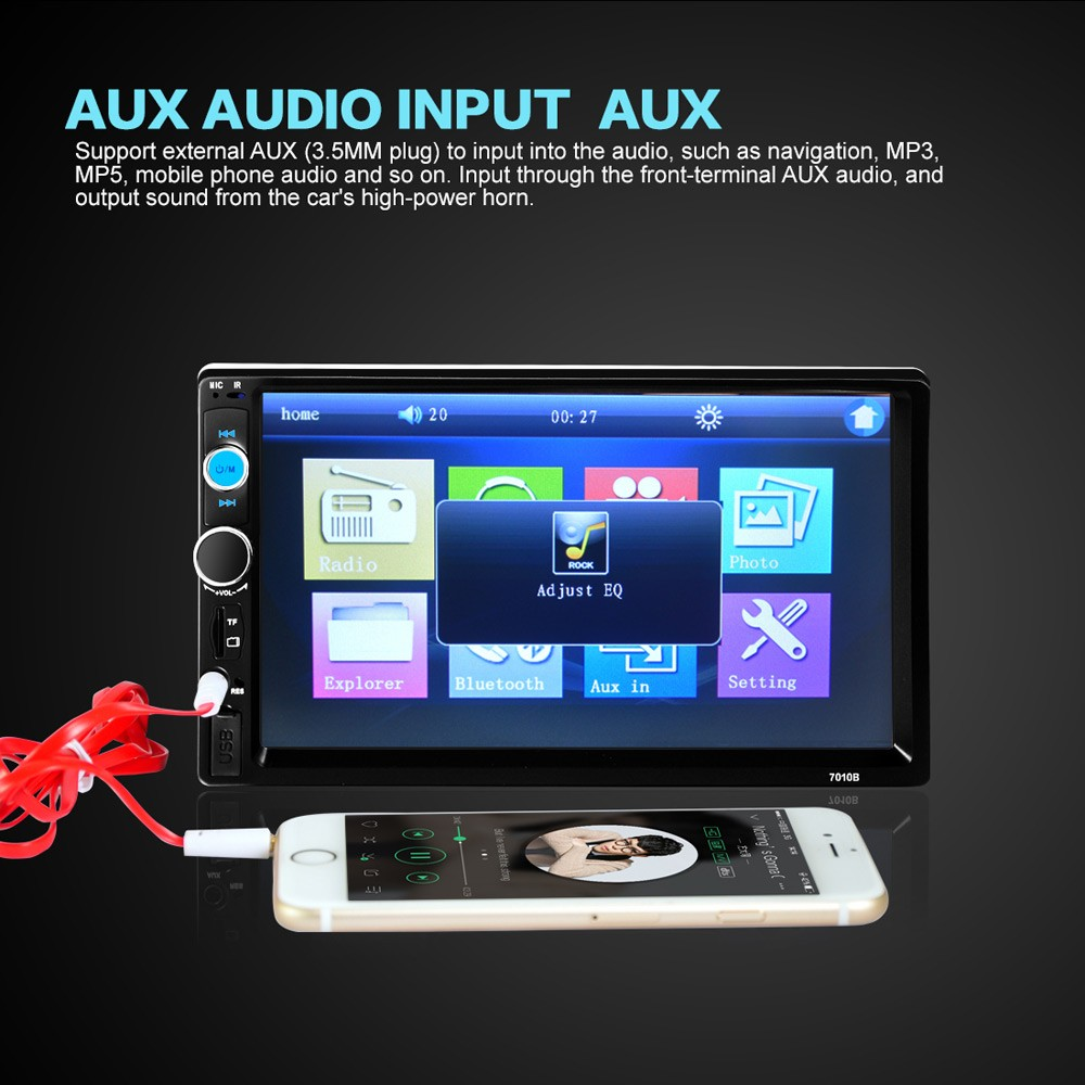 Audio Player Mobil Universal Bluetooth Touch Screen Black Tape Usb Mp3 Fm Radio Jsd 520 6