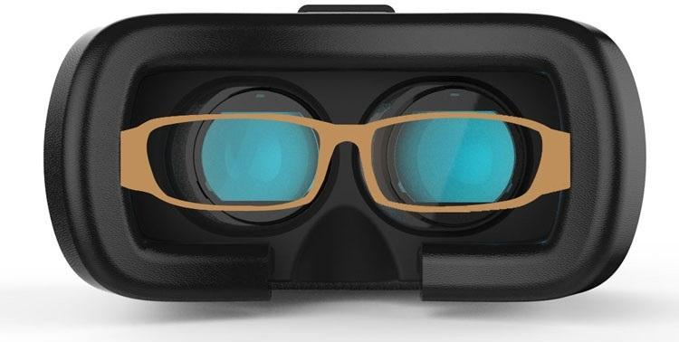 Untuk Anda pengguna kaca mata tetap dapat menggunakan VR Box dengan nyaman  karena tidak perlu repot melepas kaca mata dan pengelihatan Anda tetap  jelas. 8475a2043f