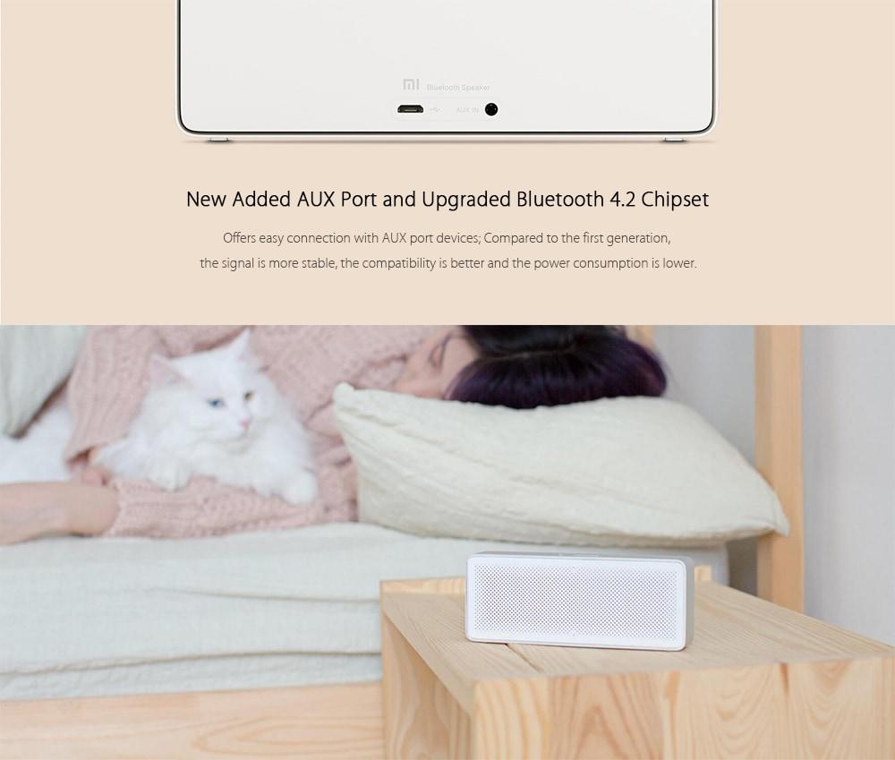 Xiaomi Square Box 2 Bluetooth Portable Speaker White Original Mi Putih Anda Dapat Menghubungkan Smartphone Dan Perangkat Audio Lain Yang Memiliki Ke Ini