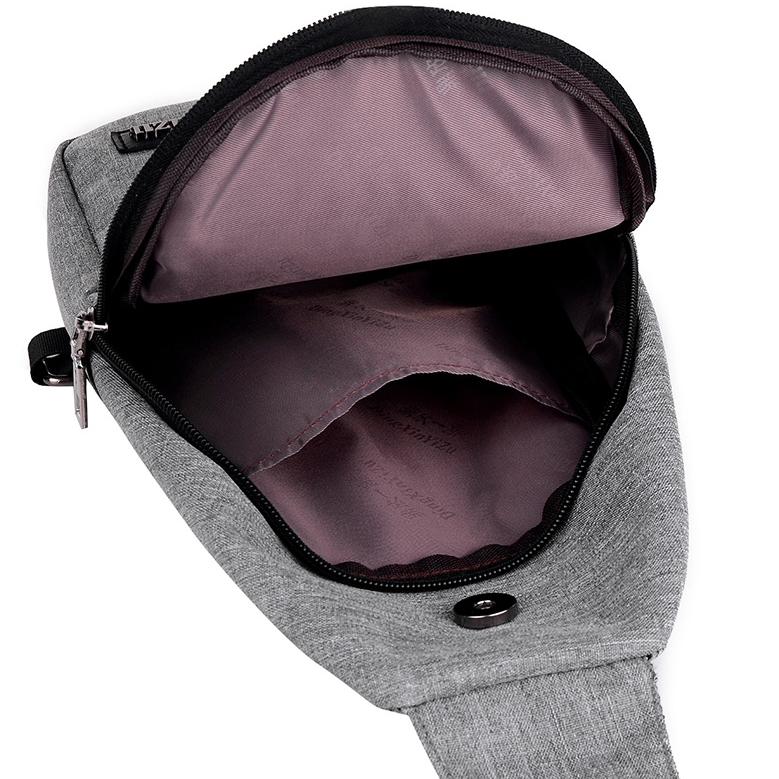 ... Tas Selempang Sling Bag Canvas - Black/Gray - 3 ...