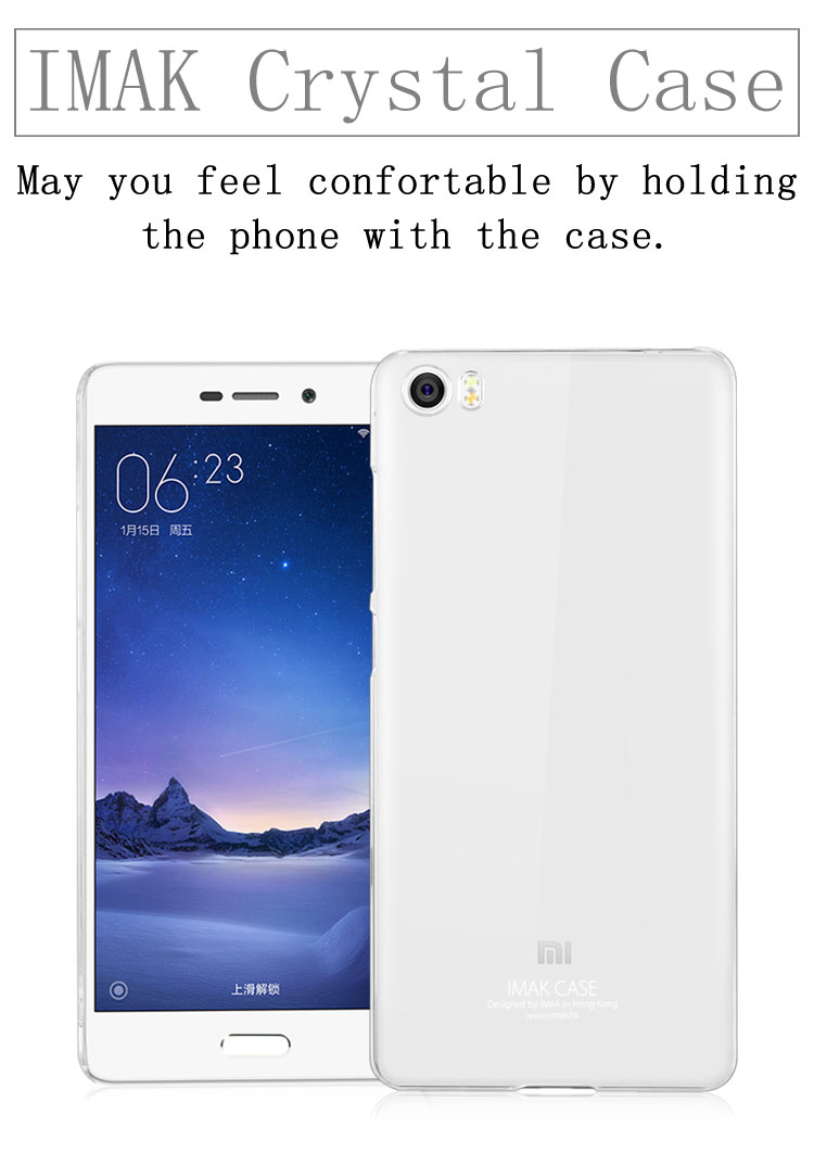 Imak Crystal 2 Ultra Thin Hard Case For Xiaomi Mi5 Transparent 1st Series Sony Xperia M4 Aqua Hardcase Transparant Materials Bring Best Protection Your Mobile Phone