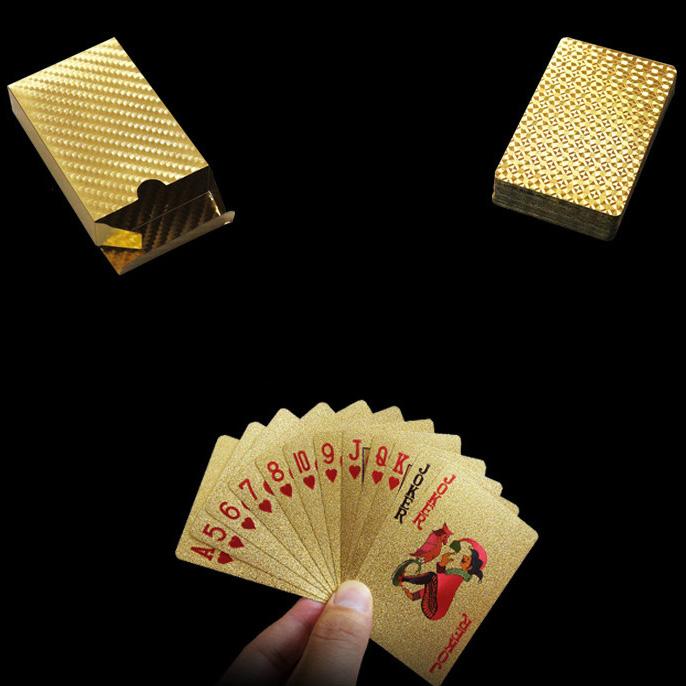 Kartu Remi Poker Lapisan Gold Foil Motif Dollar Thkk9273a Golden Jakartanotebook Com
