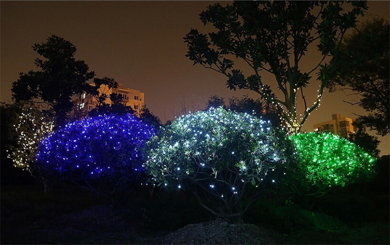 Taffled Solar Powered Decoration Light 100 Led Lampu Hias Taman Yy 3210 Black Jakartanotebook Com