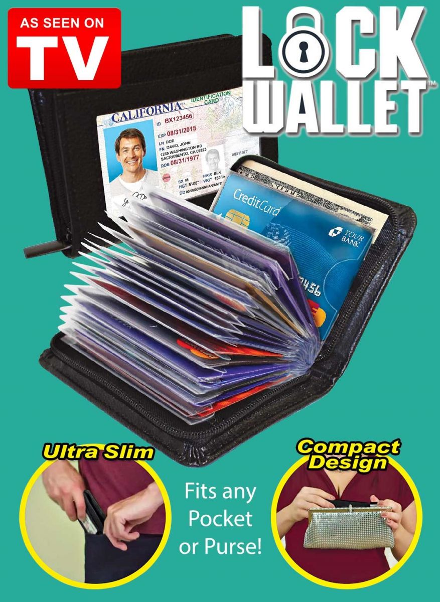 Overview of Lock Wallet Dompet Kartu Kredit Secure RFID Blocking - 789522