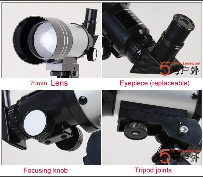 Monocular Space Astronomical Telescope 300/70mm - F30070M / Teropong