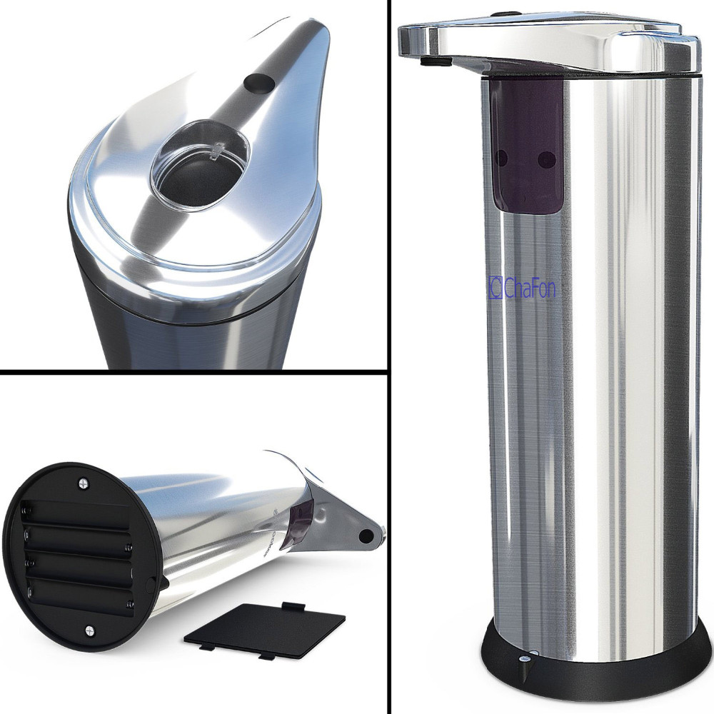 Electric Soap Dispenser ~ Stainless steel sensor automatic soap dispenser sabun