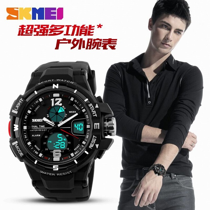 SKMEI Jam Tangan Sporty Digital Analog Pria - AD1148 - Black Blue ... 9f61338777