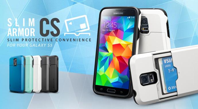 wholesale dealer 2c755 ec2c6 SGP Slim Armor CS Case for Samsung Galaxy S5 (OEM) - Silver -  JakartaNotebook.com
