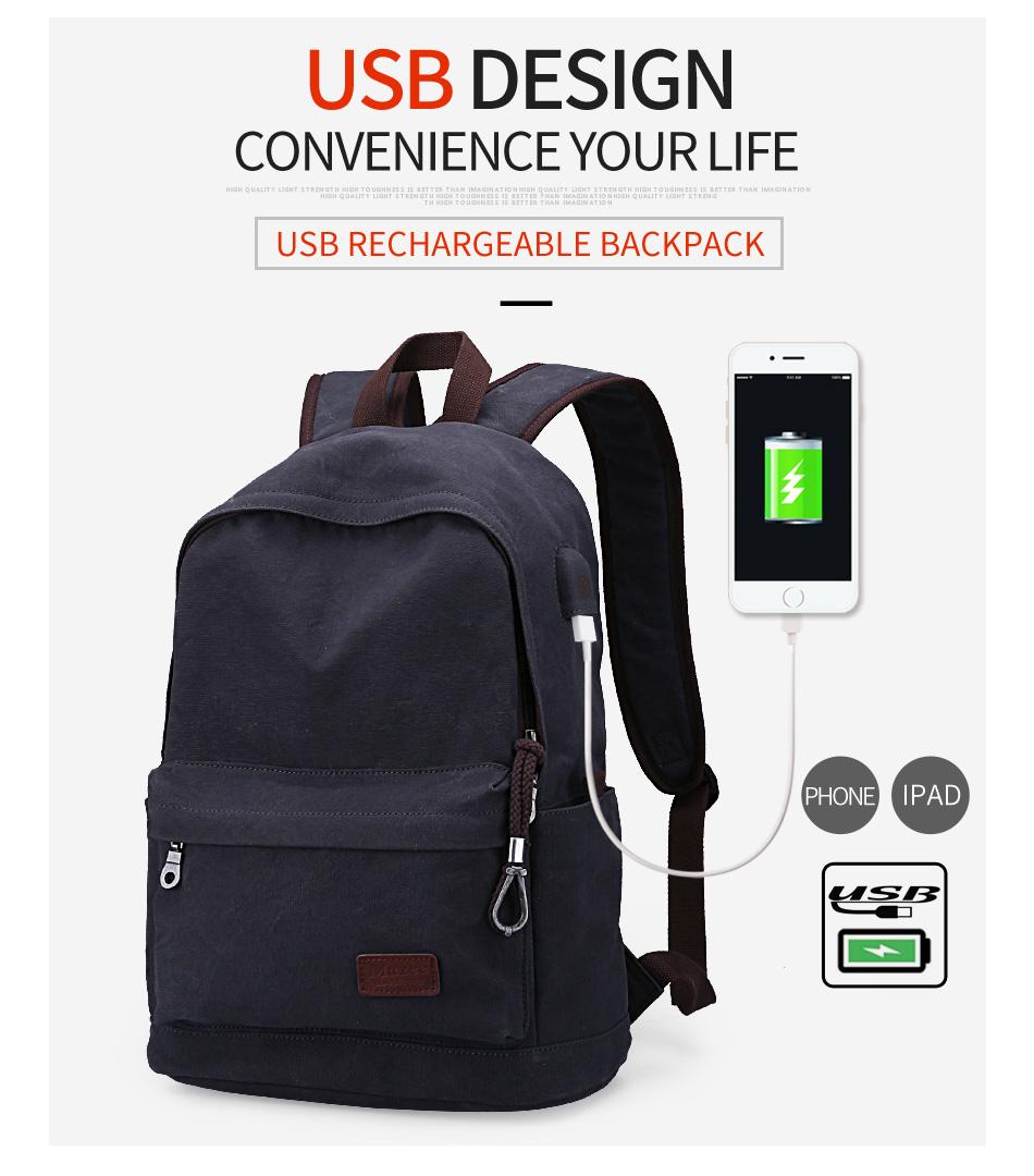 muzee tas ransel backpack casual dengan usb port me 0710 gray. Black Bedroom Furniture Sets. Home Design Ideas