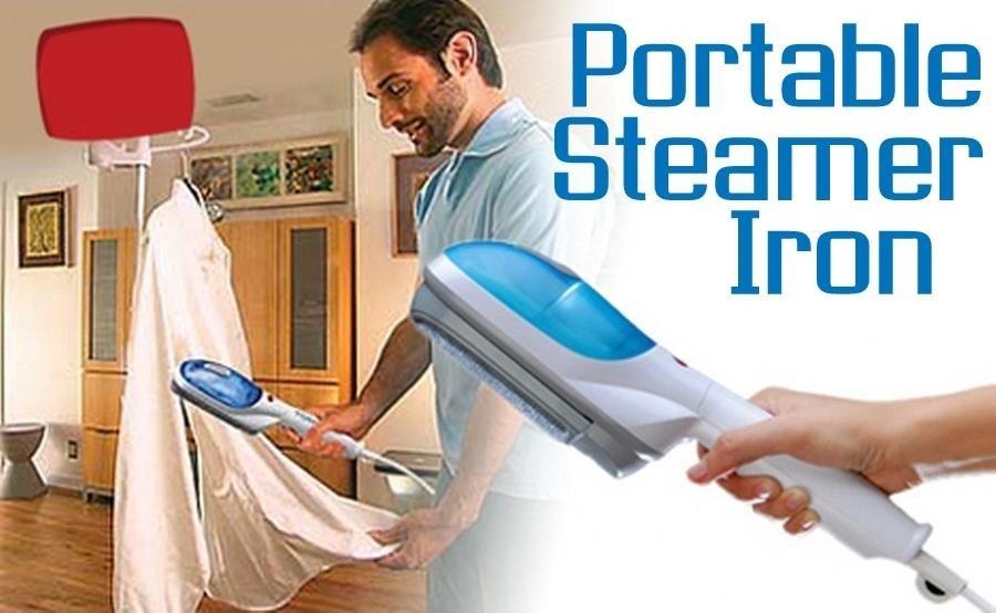 Portable Steam Iron ~ Tobi steam brush iron garment streamer setrika uap