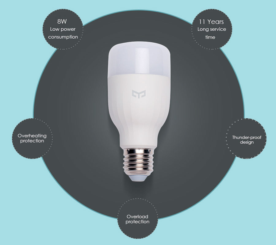 Xiaomi Yeelight Smart Bulb Led Smartphone Controlled