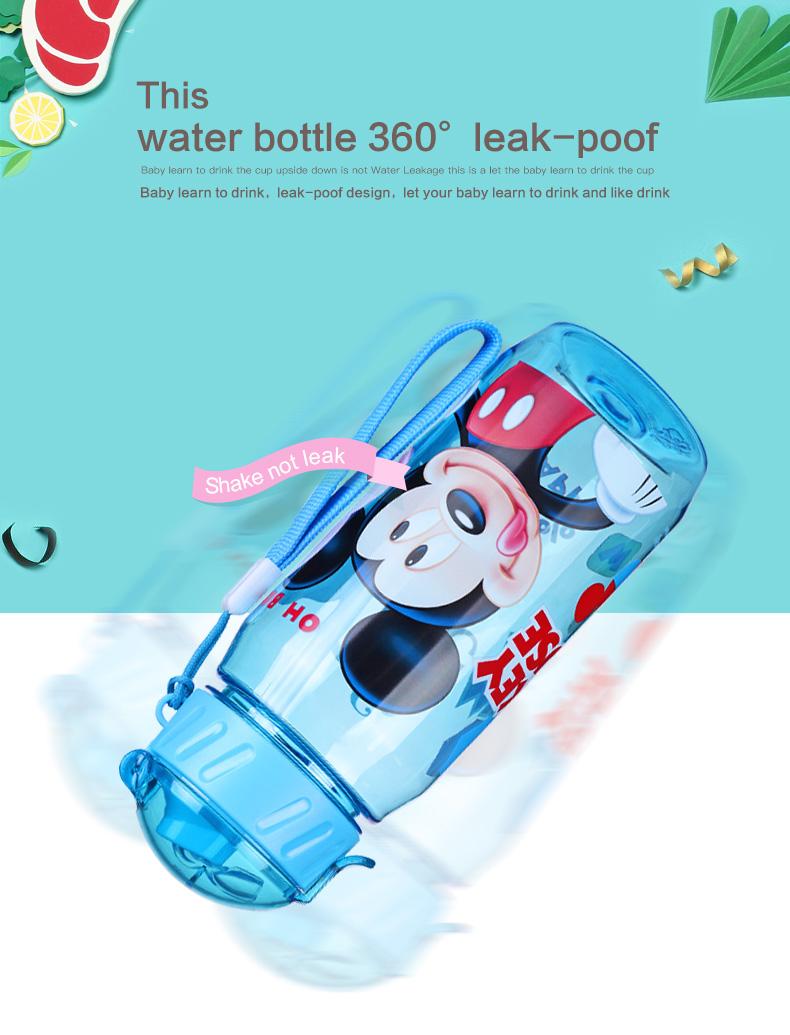 Botol Minum Lucu Gambar Kartun Disney 450ML Blue