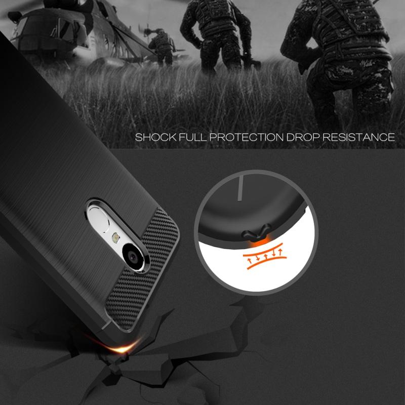 Carbon Fiber TPU Case Protector for Xiaomi Note 3 Black 3 .
