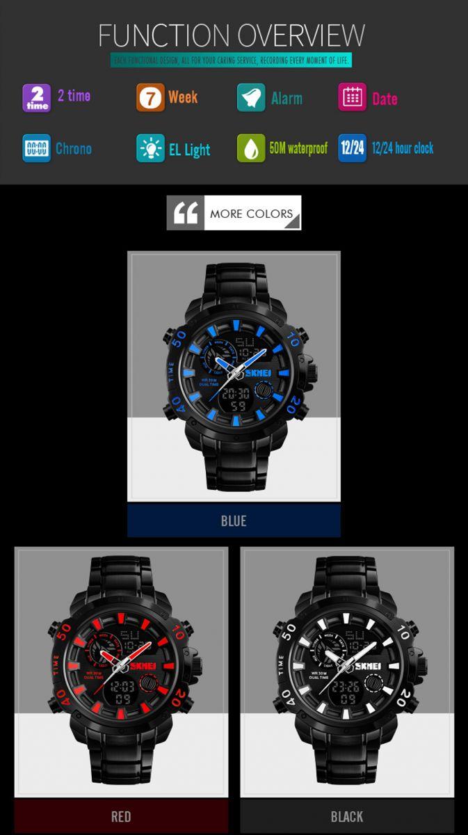 Skmei Jam Tangan Digital Analog Pria 1306 Black 333mlbldg1 Product Showcase