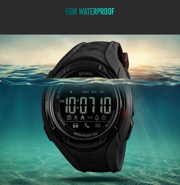 Skmei Jam Tangan Olahraga Smartwatch Bluetooth Dg1245 Bl Black Source · Smartwatch memiliki fitur waterproof Informasi lebih lengkap mengenai waterproof ...