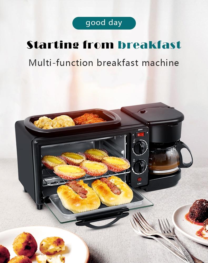 Jual Cukyi Breakfast Machine 3 In 1 Toaster Oven Mesin Kopi Grill Pan 640 450w Fff1601 Black Online Januari 2021 Blibli