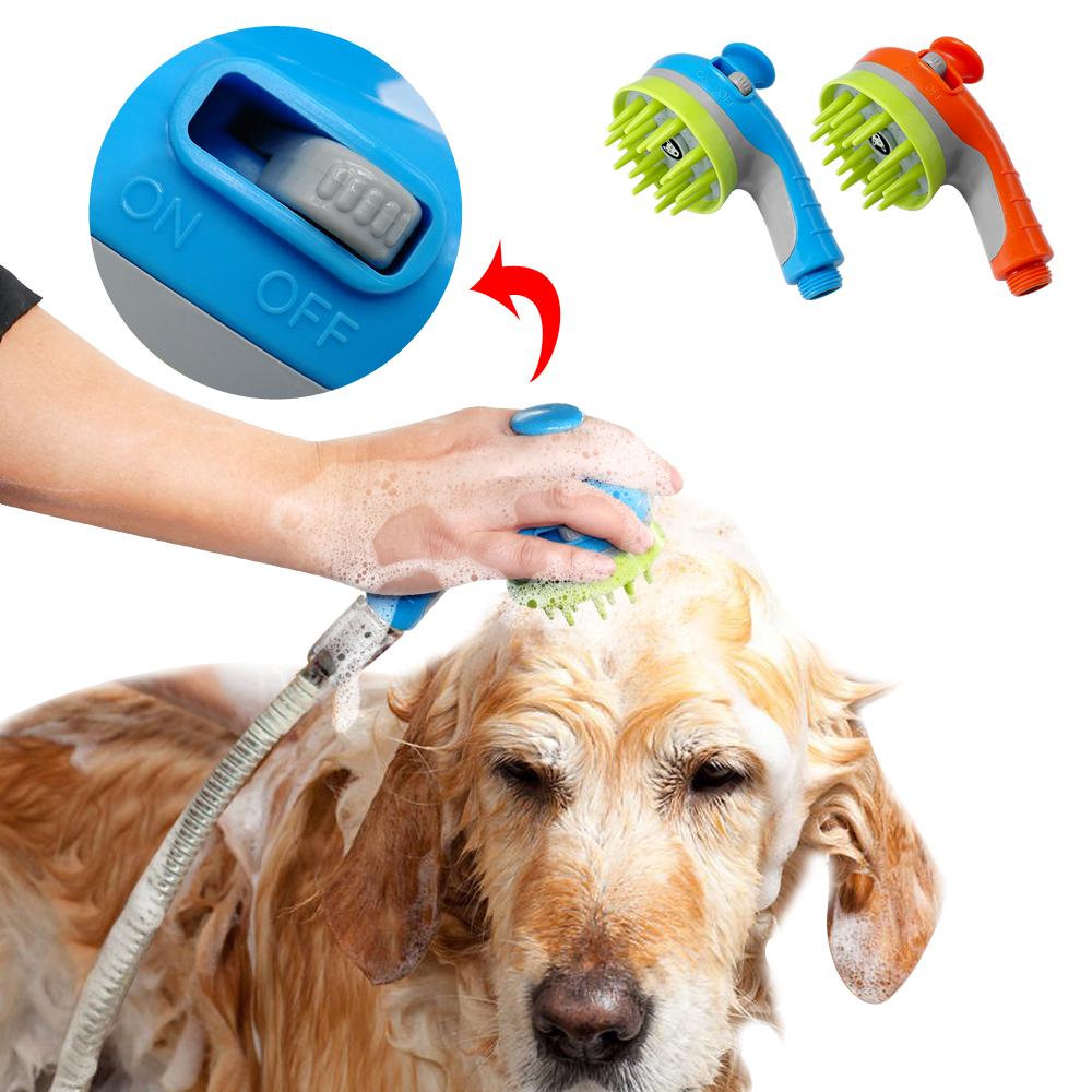 ... Kepala Shower Air 2 in 1 Sikat Mandi Anjing Pet Grooming Tool - Blue -  1 ... 47534ee020