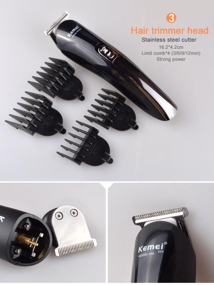 Kemei Alat Cukur Elektrik 6 in 1 Hair Trimmer Shaver - KM-600 ... a6c848aaea