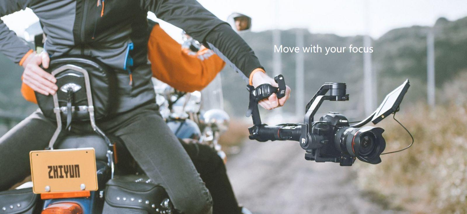 Zhiyun Tech Crane 2 3 Axis Smart Control Gimbal Stabilizer Black Servo Follow Focus Mechanical Dari Terintegrasi Dapat Anda Padukan Dengan Roda Fokus Yang Belum Pernah Ada Sebelumnya Terpasangnya Teknologi