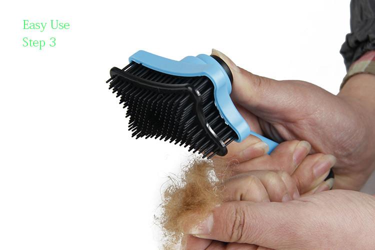 Sisir grooming ini sangat mudah dibersihkan. Anda hanya perlu menekan  tombol pada sisir ec09d8775c