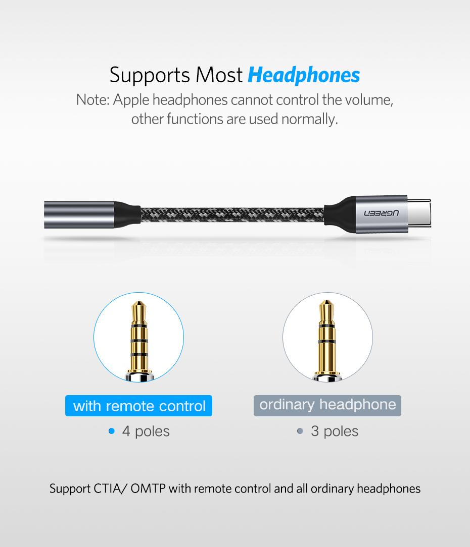 Ugreen Kabel Adapter Usb Type C To 35mm Aux Audio Gray Tali Sepatu Ini Dapat Digunakan Untuk Semua Jenis Smartphone Yang Menggunakan Port
