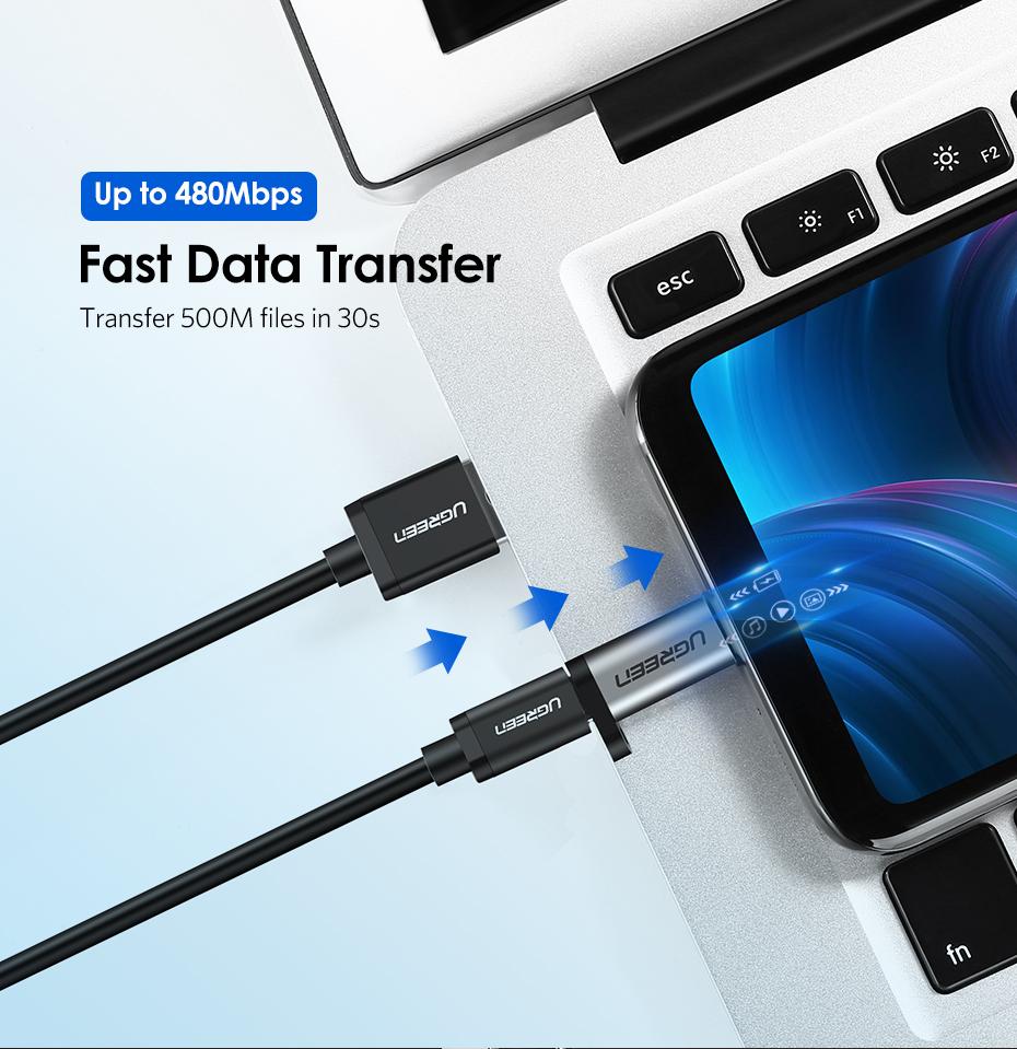 Ugreen Micro Usb To Type C Adapter Converter Us282 Gray Orico 31 Ctm1 Silver Konverter Ini Memiliki Transfer Rate Yang Cepat Hingga 480 Mbps Anda Dapat Mentransfer Data 500mb Hanya Dalam Waktu 30 Detik Melalui