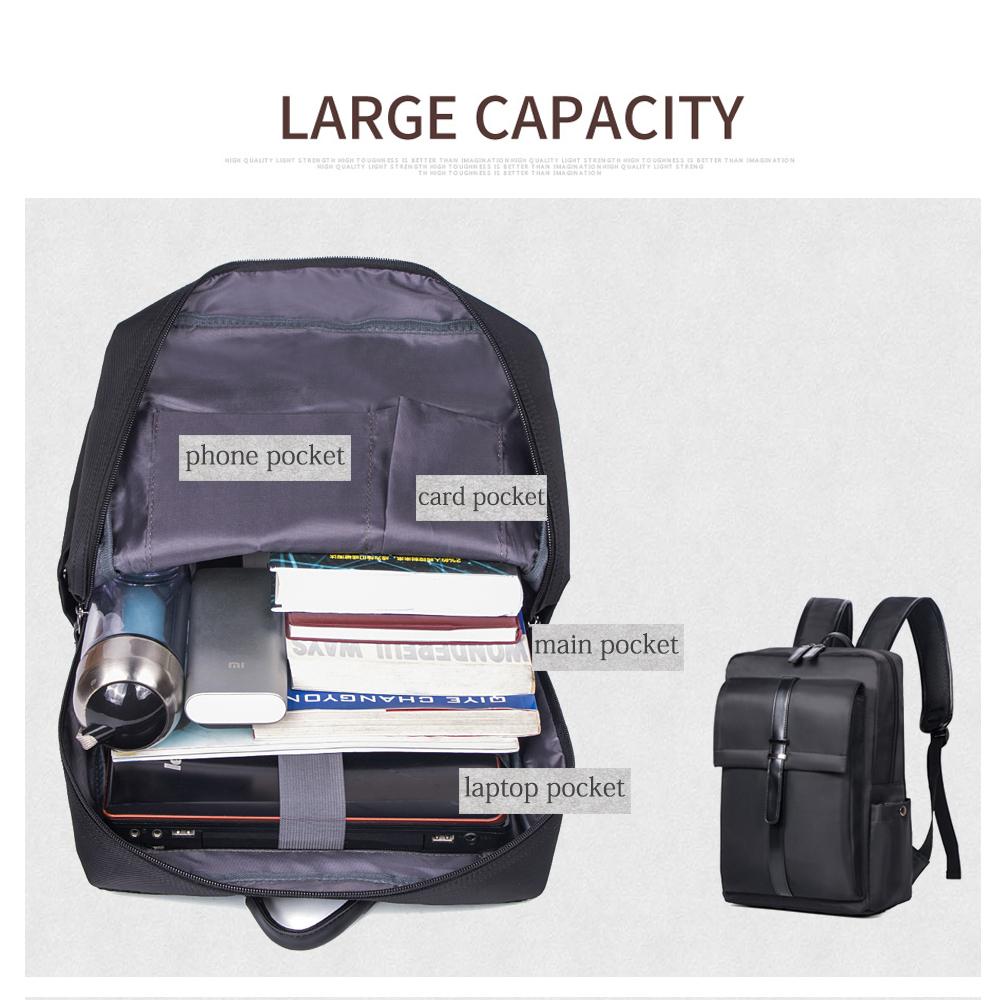 ... WESTLONG Tas Ransel Laptop 15.6 Inch - 3T98 - Black - 2 ... 28d9db8f47