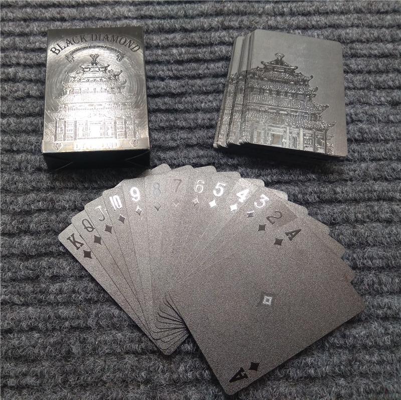 Black Diamond Kartu Poker Remi Plastik Waterproof Model 1